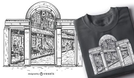 Diseño de camiseta de ventana futura
