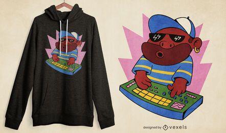 Design de camiseta masculina Beatmaker