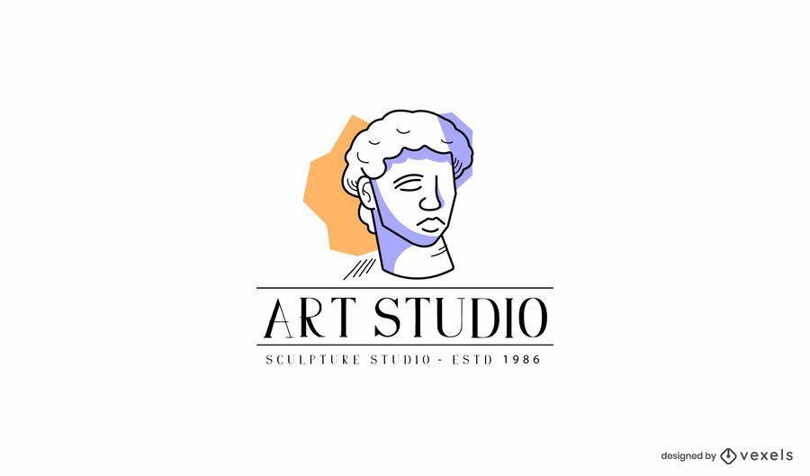Modelo de logotipo do estúdio de escultura