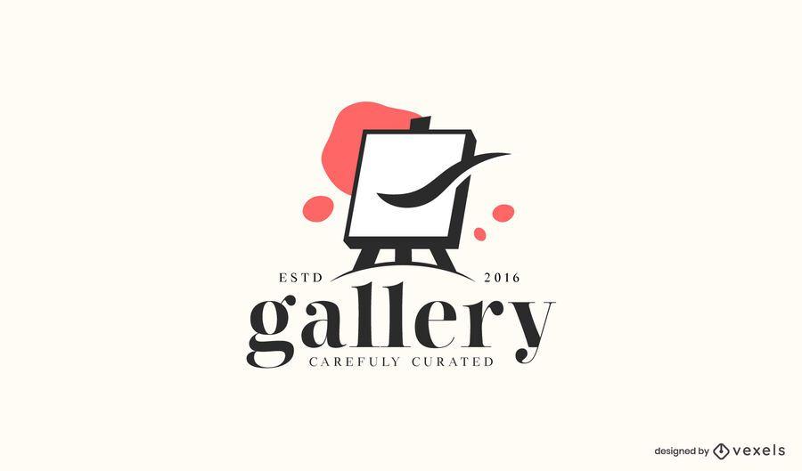 Modelo de logotipo da galeria de arte