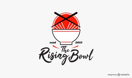 The rising bowl logo template