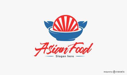 Plantilla de logotipo de comida asiática