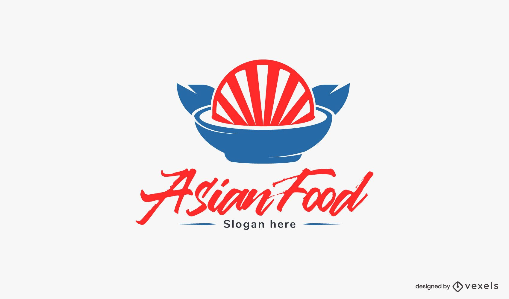 Asian food logo template