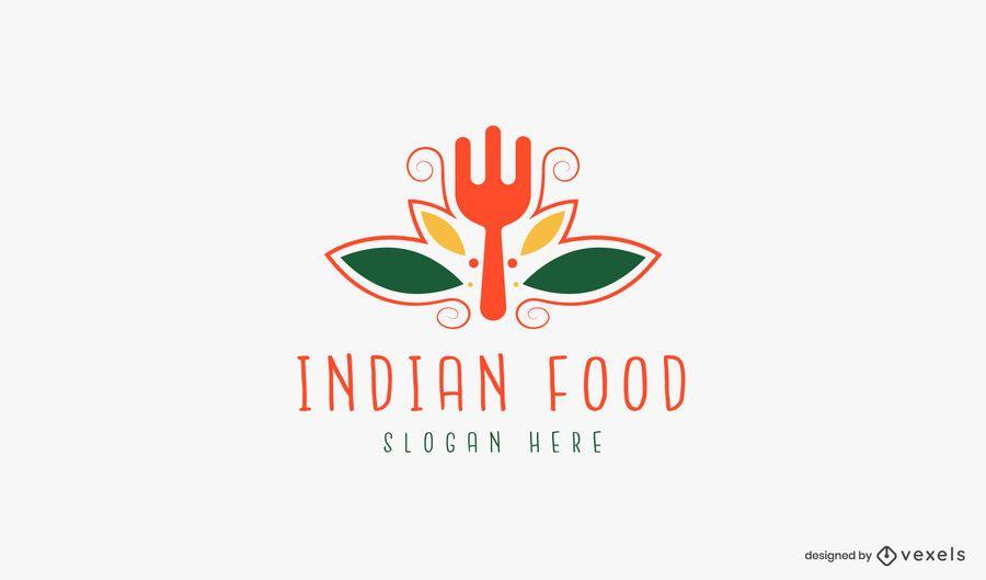 Indian food logo template