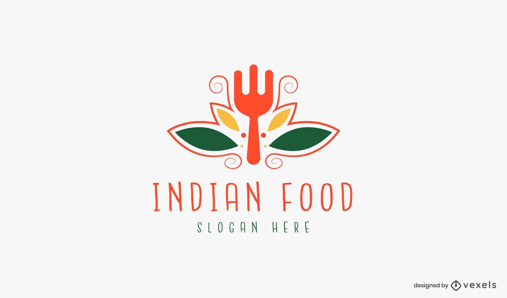 Modelo de logotipo de comida indiana