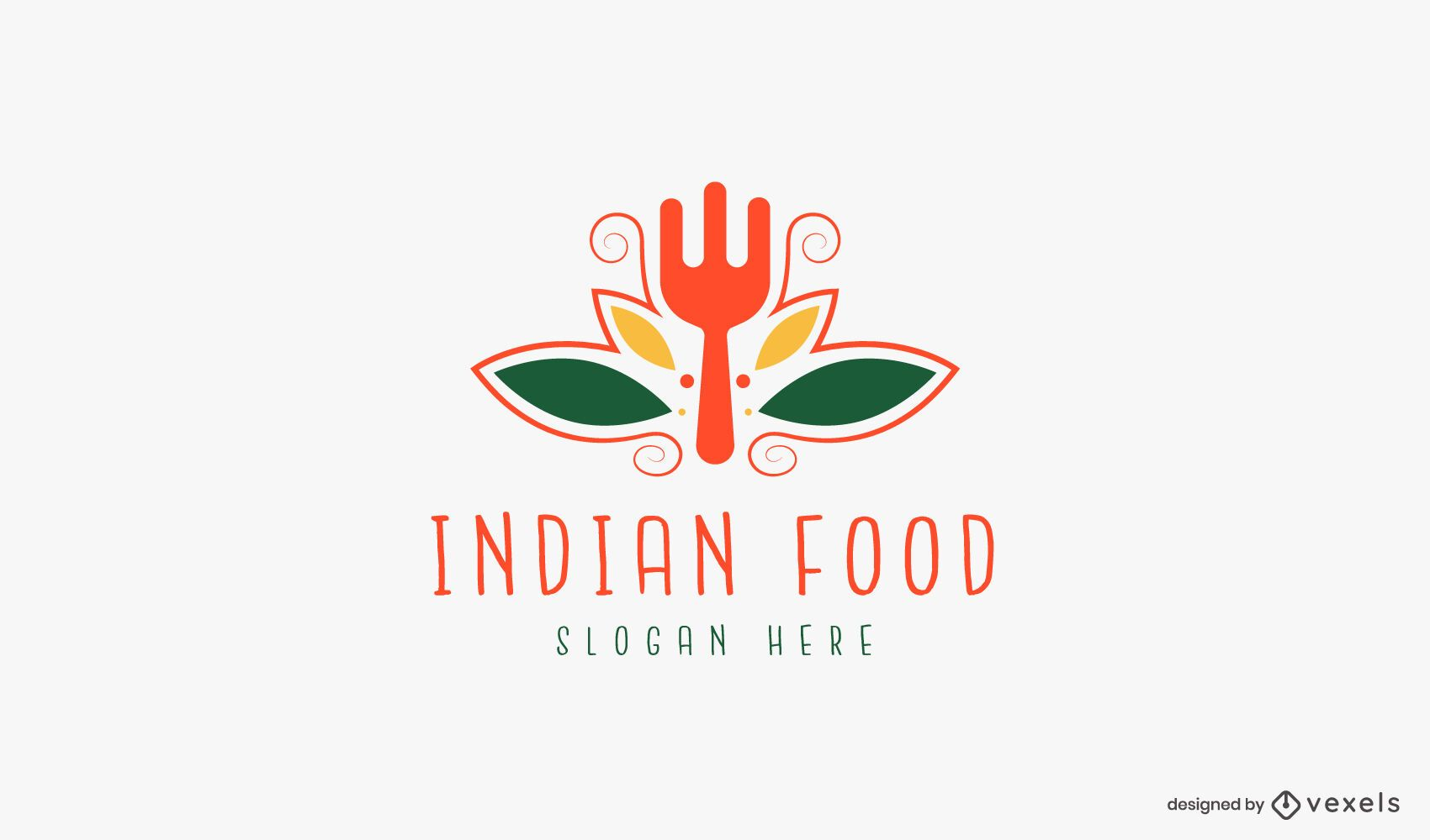 Plantilla de logotipo de comida india