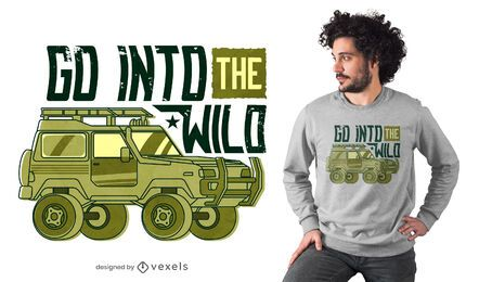 En el diseño de camiseta salvaje