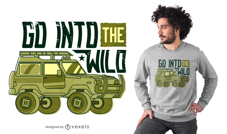 Into the wild t-shirt design