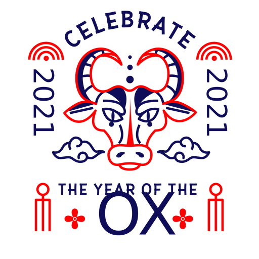 2021 year of the ox badge