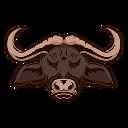 Logotipo da cabeça de búfalo africano