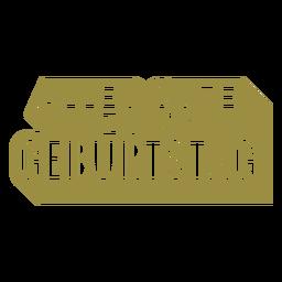 Alles gute zum geburtstag german lettering