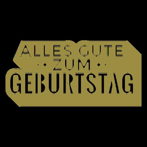 Letras alemãs Alles gute zum geburtstag