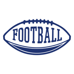 American football ball badge
