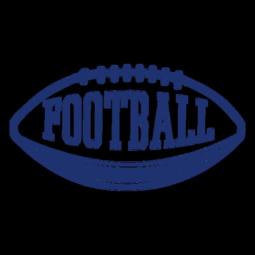 American football ball badge