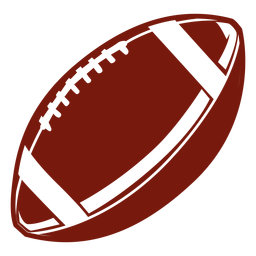 American football ball cut out