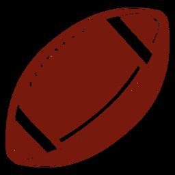 Bola de futebol americano cortada