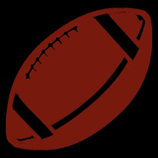 American football ball cut out