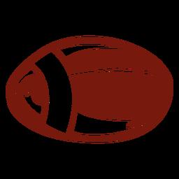 Juego de pelota de fútbol americano cortado