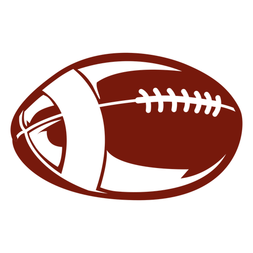 American football ball game cut out