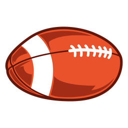 American football ball game illustration