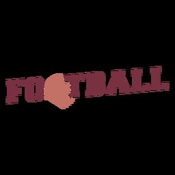 American football ball lettering