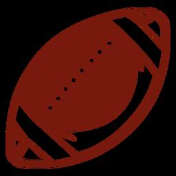 Corte lateral da bola de futebol americano