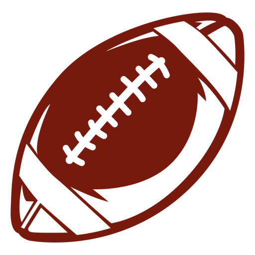 American football ball side cut out