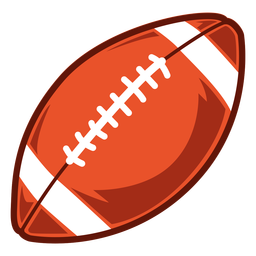 Ilustração do lado da bola de futebol americano
