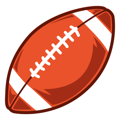 American football ball side illustration Transparent PNG