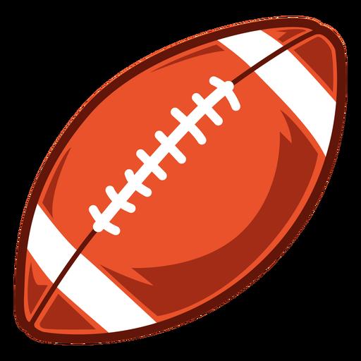American football ball side illustration
