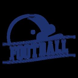 Insignia de casco de fútbol americano