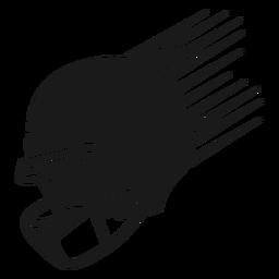 Corte de casco de fútbol americano