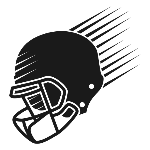 American football helmet cut out