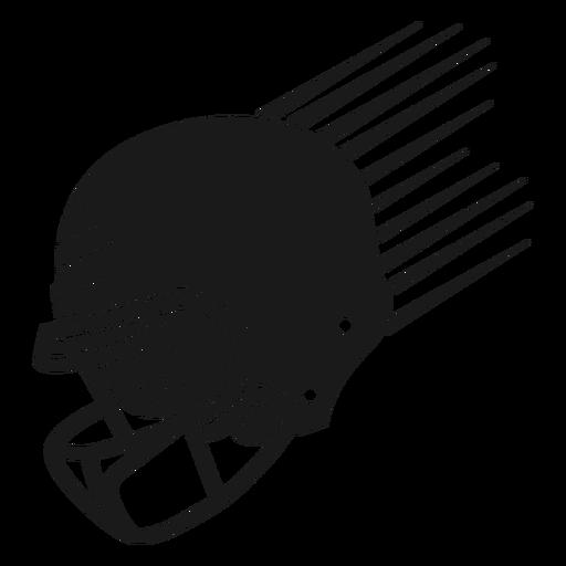 Corte de casco de f?tbol americano