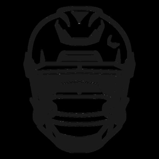American football helmet high contrast