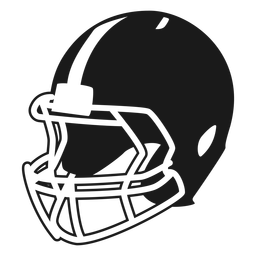 American football helmet side cut out