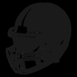 Corte lateral do capacete de futebol americano