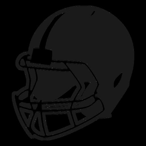 American Football Helm Seite ausgeschnitten