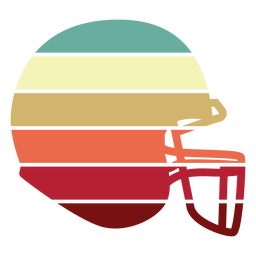 American football helmet sunset