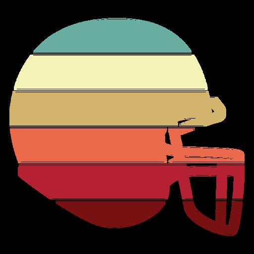 American football helmet sunset