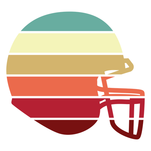 Atardecer de casco de fútbol americano