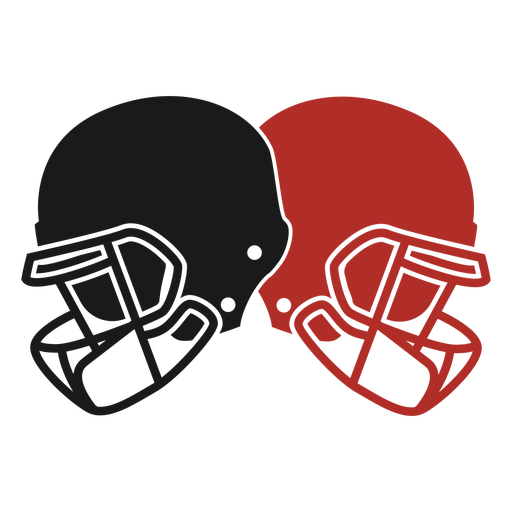 American football helmets cut out