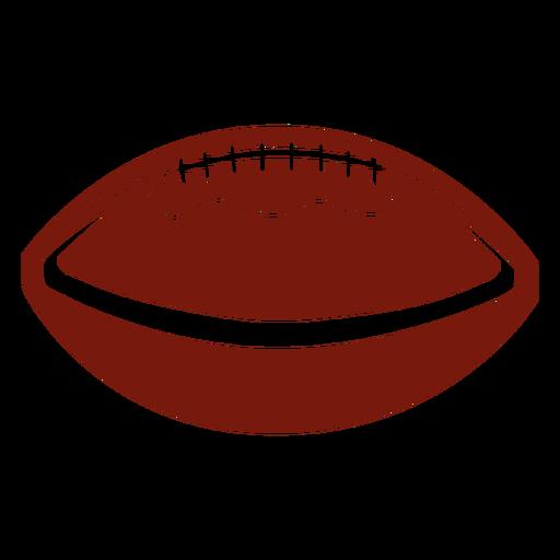 Corte horizontal de f?tbol americano