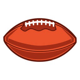 American football horizontal illustration
