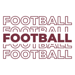 American football multiple lettering