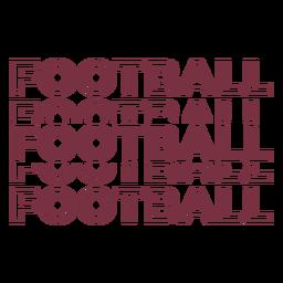 Letras múltiplas de futebol americano