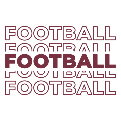 American football multiple lettering
