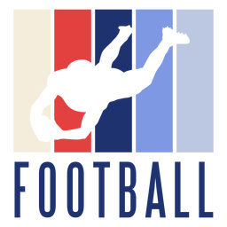 American football player badge