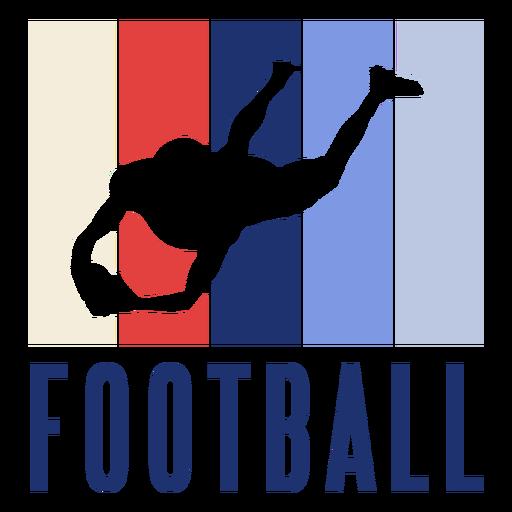 American football player badge