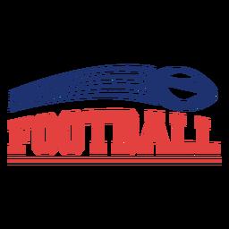 Insignia de deporte de fútbol americano